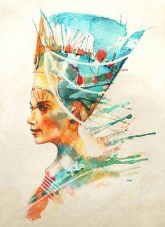 Nefertiti Art Print by Alice X. Zhang | Society6