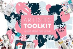 Artistic Toolkit - Over 480 Elements  These tools will help you create your own logo and branding. Be sure to click on the image to see all toolkit.  You need to make a logo or just decorate your blog? Maybe you want to make a nice t-shirt or send a postcard to friend? Or if you have a small shop or a cafe? Create beautiful things using 480 tools.