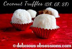 Coconut Cream Truffles (SF, GF, DF)