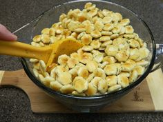 Sugar, Spice and Spilled Milk: Ranch Oyster Cracker Party Snacks