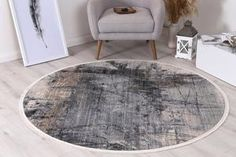 Istanbul Modern Aydeniz Blue Ash Round Rug   Pile Height: 5mm Material: 65% Polypropylene,35% Polyester Rug Type: Indoor Easy to clean Style(s): Modern & Contemporary Pattern(s):Vintage, Modern