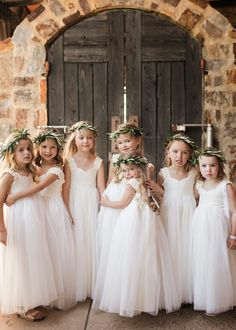 The cutest flower girl dresses ever! From Fattiepie. Flutter sleeves, delicate ivory lace sweet-heart bodice, with triple layers of soft ivory tulle and very comfortable for your little flower girl. Wedding Ideas Flower Girl Ideas