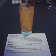 The Hora de Oro cocktail at SolBar in Calistoga, CA
