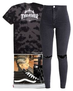 """""""Hype"""" by sugartrap ❤ liked on Polyvore featuring Bobbi Brown Cosmetics, Charlotte Russe, Recover and Vans"""