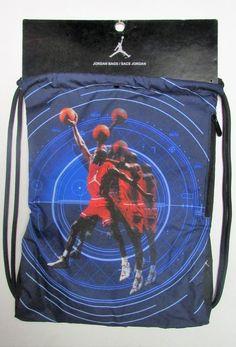 e5336f8dd7e Nike Michael Jordan Dunking Jumpman Drawstring Gym Sack Bag Workout School  for sale online | eBay