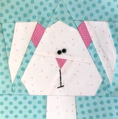 Easter Bunny 2 Paper Pieced Block Pattern | Craftsy