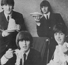 Ringo looks like he's going to start quoting Hamlet to his spaghetti.
