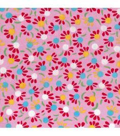 Coton enduit Iroquois rose - Petit Pan - vivre en multicolore