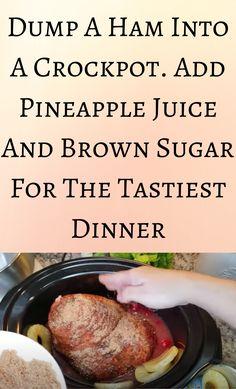 Crockpot Dishes, Crock Pot Slow Cooker, Crock Pot Cooking, Pork Dishes, Slow Cooker Recipes, Crockpot Recipes, Tasty Dishes, Meat Recipes, Cooking Recipes