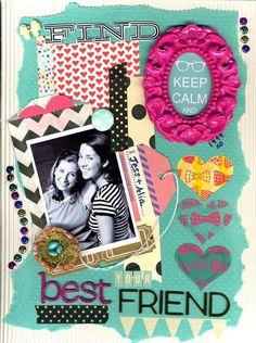 best friends scrapbook com scrapbook layouts pinterest