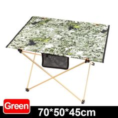 Outdoor aluminum camouflage folding table