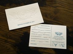 """lovely-stationery-goodman-and-gower1 Wedding stationery with """"mad libs"""" RSVP card. Apparently the guests had a great time filling this out and returning it."""