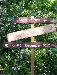 Morning Wedding Sign 1st Dec 2012