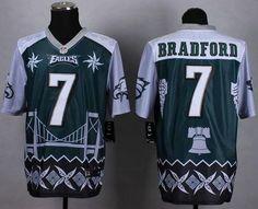 "$35.88 at ""MaryJersey""(maryjerseyelway@gmail.com) Nike Eagles 7 Sam Bradford Midnight Green Men Stitched NFL Elite Noble Fashion Jersey"