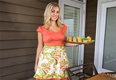 Click to Enlarge  http://www.sew4home.com/projects/kitchen-linens/patio-party-groovy-hostess-apron