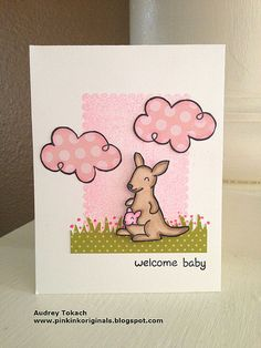 Welcome Baby by momma    USE B&J ART STAMPS BACKGROUND STAMP INSTEAD OF THE SQUARE