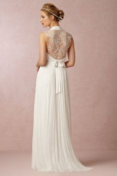 """Beautiful back on this wedding dress! // """"Wing Gown"""" - BHLDN"""