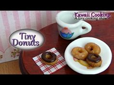 Tiny Donuts (Edible) - Kawaii Cooking - a tiny cooking show - YouTube