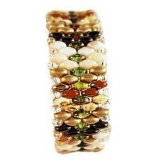 Gradient SuperDuo Gold Woven Charm Bracelet - HaJuls - 5