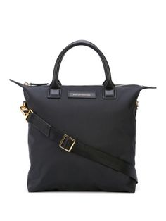 Black mini O'Hare tote from Want Les Essentiels De La Vie featuring round top handles, a top zip closure and a front centre logo stamp. Mini, Logo Stamp, Black Nylons, Hare, Hermes Kelly, World Of Fashion, Luxury Branding, Women Wear, Round Top