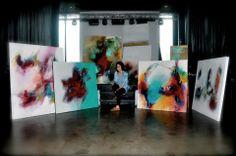 #Brittanyleehoward #NewOrleans #artshow #abstractpainting