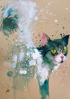 Cat • watercolour • A4 • A3 • art print