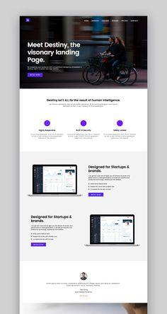 Business Ideas Discover Destiny Landing Page Template by YDirectionThemes on Envato Elements 5 Landing Page Templates Available Now From Envato Elements Flat Web Design, Minimal Web Design, App Design, Design Web Page, Design Ideas, Logo Design, Website Design Inspiration, Best Website Design, Landing Page Inspiration