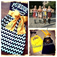 Haute Threads Boutique - Custom Gameday Dresses and Tee Conversions - Christmas Gift - College, NFL, Sorority & More. $50.00, via Etsy.