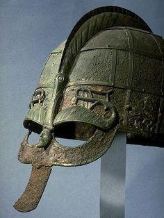 7th century helmet from Vendel boat grave no. 1, Uppland, Sweden.