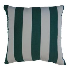 Easy Way Products Sunbrella Maxim Stripe Throw Pillow Color: Forest