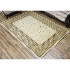 Super Belkis Ivory Polypropylene Machine-made Area Rug (8' x 11') (Ivory), Size 8' x 11'
