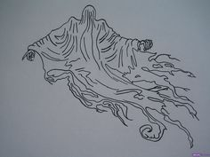 How to Draw a Dementor from the Harry Potter Series, Step by Step ...