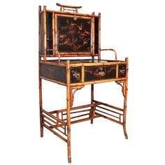 1stdibs | Bamboo Drop-Front Desk, England, c. 1875