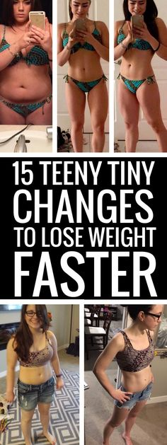 15 really small changes to your habits to lose weight faster.