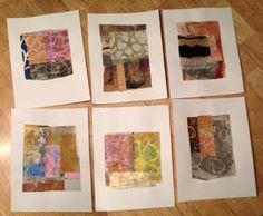 Gelli Printed Paper for Collage by ©Martha Marshall