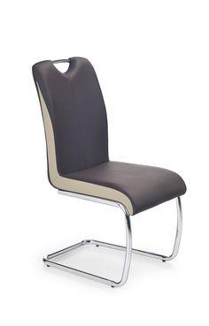 Scaun metalic tapitat cu piele ecologica K184 Floor Chair, Modern, Furniture, Home Decor, Design, Living, Products, Champagne, Gera