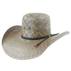 e3830629fc Tombstone Open Crown Diamond Pattern Cowboy Straw Hat Western Hat Styles