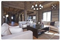 Cedar Homes, Log Homes, Chalet Interior, Rustic Contemporary, Wooden House, Next At Home, Scandinavian Interior, House In The Woods, Interior Decorating