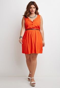 Plus Size Ladder-Back Babydoll Dress