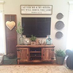 Living room...love the tv console area