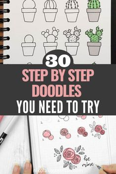 30 Super Cute How To Doodles For Your Bullet Journal THE BEST how to doodle bullet journal ideas! I'm so glad I found this GREAT list of step by step drawings I can try in my own bullet journal. Bullet Journal Wishlist, Doodle Bullet Journal, Bullet Journal Period Tracker, Bullet Journal Hacks, Bullet Journal Notebook, Bullet Journal Spread, Bullet Journal Ideas How To Start A, Bullet Journal For Beginners, How To Journal