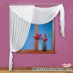 Berta firanka szyta z woalu 250 x 200 cm Window Dressings, Window Treatments, Tapestry, Windows, Furniture, Diy Things, Home Decor, House Ideas, Gardens