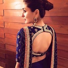 Blouse back neck designs have been a rage. Here are 54 stylish back neck blouse designs, Pick the best blouse to complement your designer saree. Blouse Back Neck Designs, Sari Blouse Designs, Designer Blouse Patterns, Bridal Blouse Designs, Choli Designs, Choli Back Design, Lehenga Style, Lehenga Blouse, Saree Dress