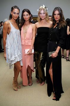 CFDA/Vogue Fashion Fund Awards: Joan Smalls, Lily Aldridge, Constance Jablonski and Alessandra Ambrosio