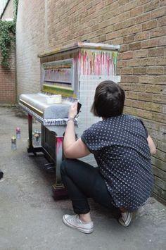Graffiti Street pianos | Barnaby festival 2013 | Marburae Art Gallery | www.artinmacclesfield.co.uk