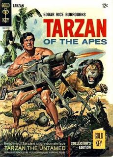 Tarzan goes all Rambo on the Germans. This is a Russ Mannning adaptation of Tarzan the Untamed, the 7th Tarzan novel. Tarzan thinks poor Jane has been killed by the Germans during the outbreak of the First World War, so you really can't blame him for being annoyed.