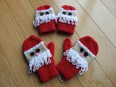 Santa Mitts 1-2 yrs or 2-4 yrs. $15.00, via Etsy at DebsAranKnits.