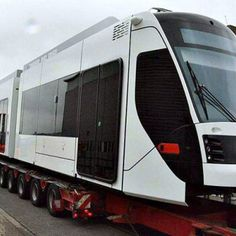 First lot of hybrid tram for Education city on its way to Qatar