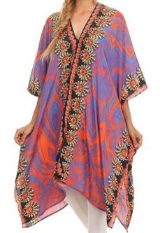 Loose caftan style bohemian colorful dress perfect for summer hot days