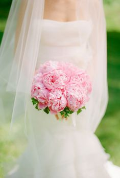 An all-pink peony bouquet